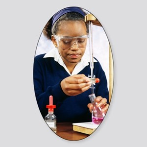 Pupil performing titration Sticker (Oval)