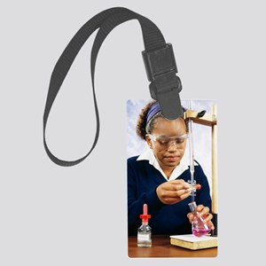 Pupil performing titration Large Luggage Tag