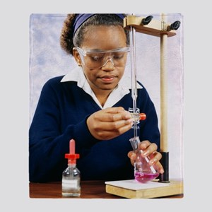 Pupil performing titration Throw Blanket