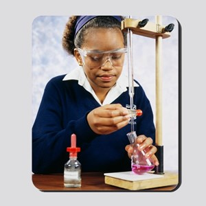 Pupil performing titration Mousepad