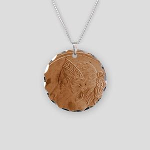 Queen Victoria Necklace Circle Charm