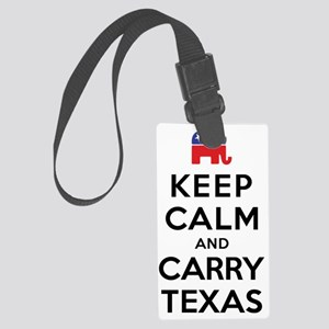 Keep Calm and Carry Texas Republ Large Luggage Tag