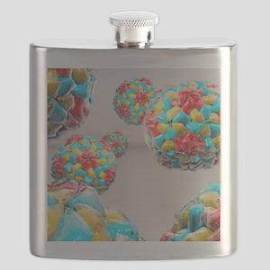 Rhinovirus particles Flask