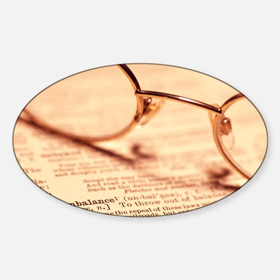 Reading glasses Sticker (Oval)