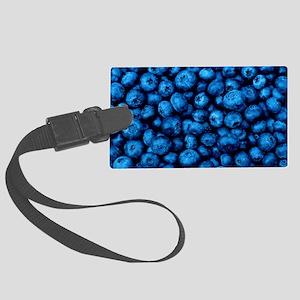 Ripe blueberries Large Luggage Tag
