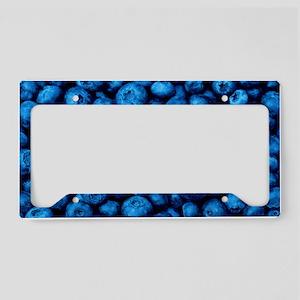 Ripe blueberries License Plate Holder