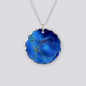 RNA interference, computer a Necklace Circle Charm