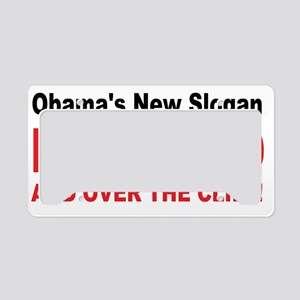 anti obama slogan License Plate Holder