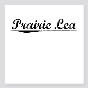 "Prairie Lea, Vintage Square Car Magnet 3"" x 3"""