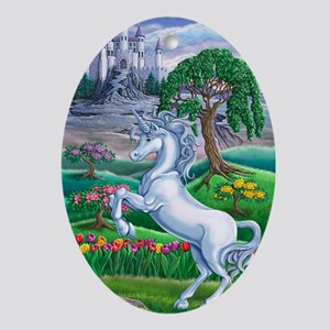 Unicorn Kingdom 23x35 Oval Ornament
