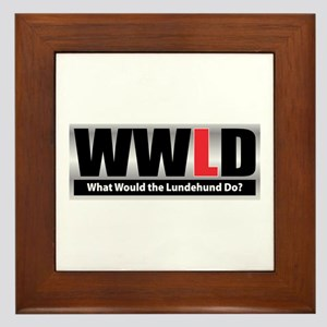 WW the Lundehund D Framed Tile