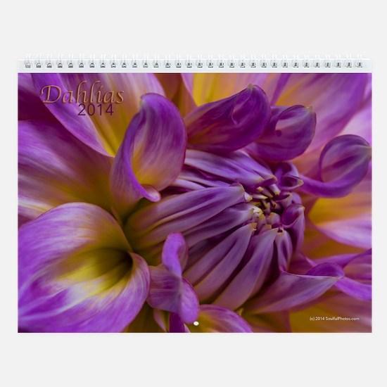 2014 Dahlia Wall Calendar By Soulful Photos