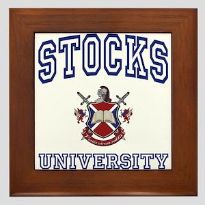 STOCKS University Framed Tile