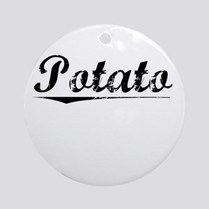 Potato, Vintage Round Ornament