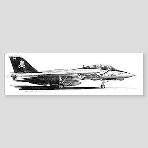 F14 Tomcat Sticker (Bumper)