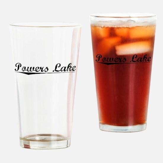 Powers Lake, Vintage Drinking Glass