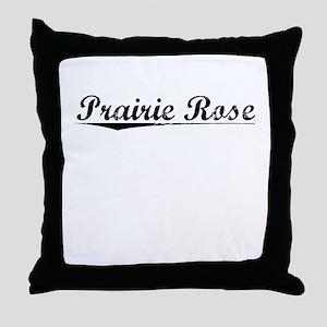 Prairie Rose, Vintage Throw Pillow
