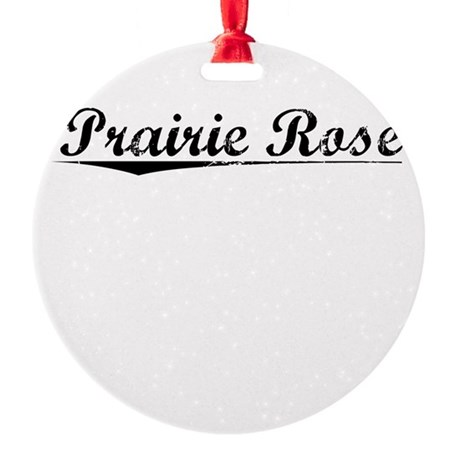 Prairie Rose, Vintage Round Ornament