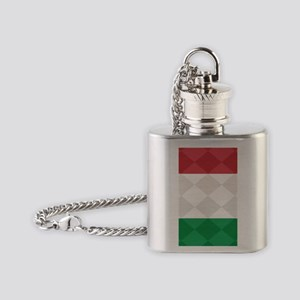 Italian Flag Argyle iPhone 5 Case Flask Necklace