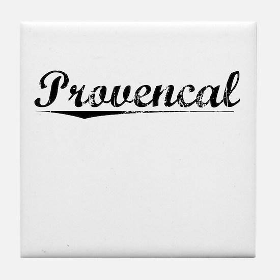 Provencal, Vintage Tile Coaster