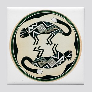 MIMBRES MOUNTAIN LION BOWL DESIGN Tile Coaster