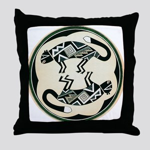 MIMBRES MOUNTAIN LION BOWL DESIGN Throw Pillow