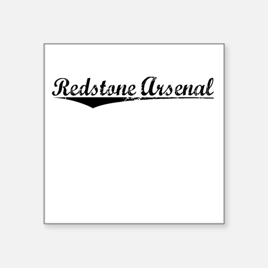 "Redstone Arsenal, Vintage Square Sticker 3"" x 3"""