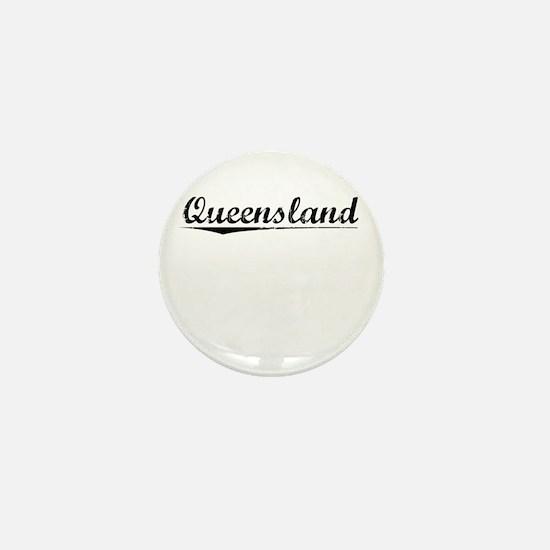 Queensland, Vintage Mini Button