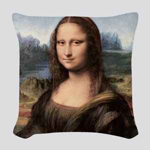 Mona Lisa Painting / Portrait Woven Throw Pillow