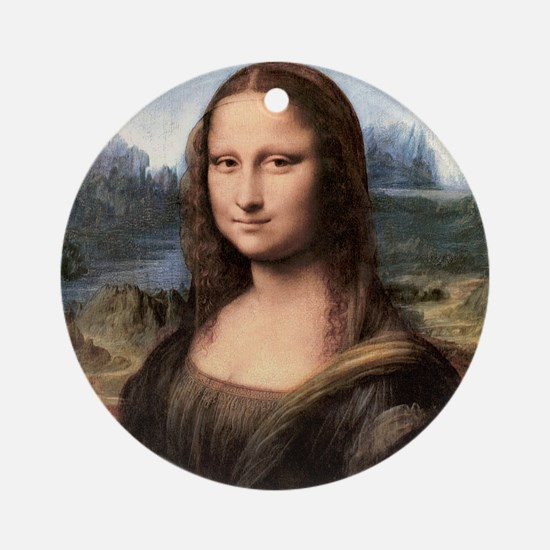 Mona Lisa Painting / Portrait Round Ornament