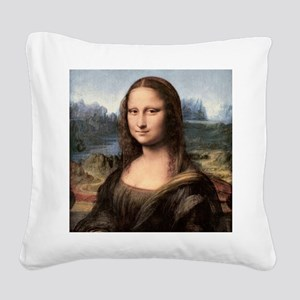 Mona Lisa Painting / Portrait Square Canvas Pillow