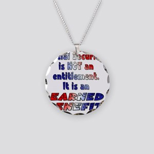 Social Security Is Not An En Necklace Circle Charm