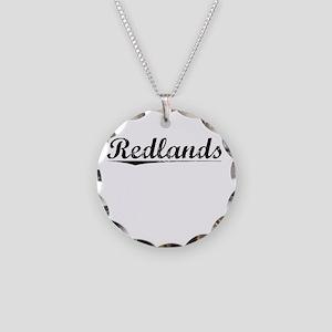 Redlands, Vintage Necklace Circle Charm