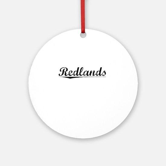 Redlands, Vintage Round Ornament