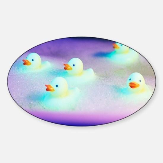 Rubber ducks Sticker (Oval)