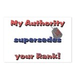 Army Wife Authority Postcards (Package of 8)