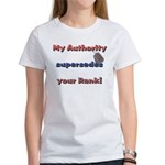 Army Wife Authority Women's T-Shirt