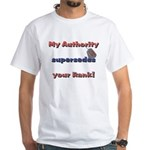 Army Wife Authority White T-Shirt