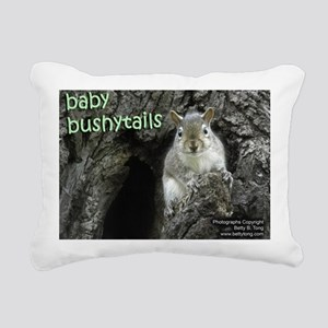 Baby Bushytails Rectangular Canvas Pillow