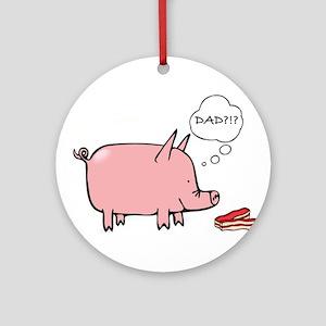 Dad Bacon Ornament (Round)