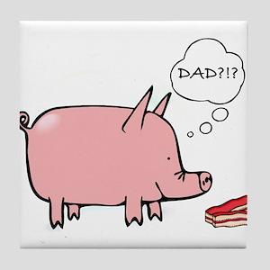 Dad Bacon Tile Coaster
