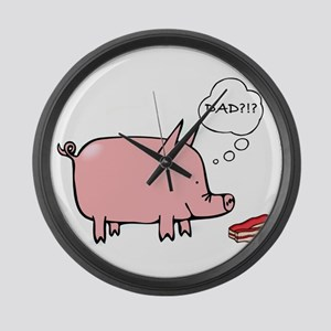 Dad Bacon Large Wall Clock
