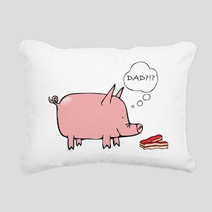 Dad Bacon Rectangular Canvas Pillow