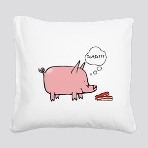 Dad Bacon Square Canvas Pillow