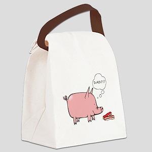 Dad Bacon Canvas Lunch Bag