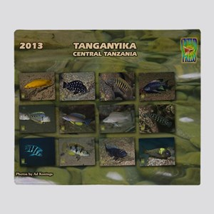 Tanganyika Cichlids calendar Throw Blanket