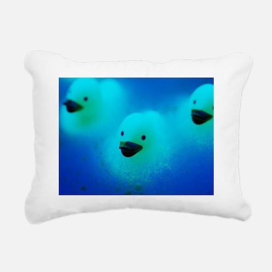 Rubber ducks Rectangular Canvas Pillow