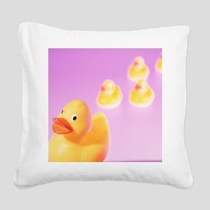 Rubber ducks Square Canvas Pillow