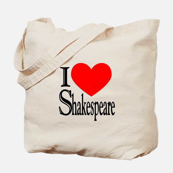 I Love Shakespeare Tote Bag