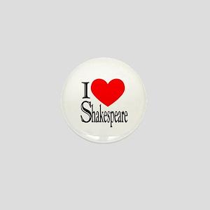 I Love Shakespeare Mini Button (10 pack)
